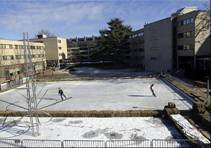 44' x 64' Portable rink with refrigeration for the students of Harvard Law School