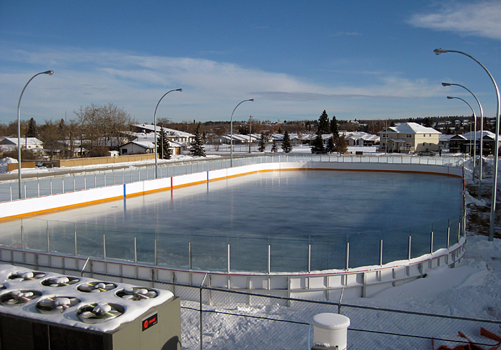 85u0027 X 200u0027 Permanent Ice Rink With A Industrial Chiller, Rink Boards And