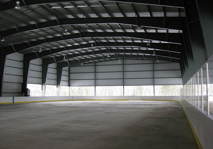 85' x 200' Permanent ice rink and summer sports pad complete with packaged refrigeration