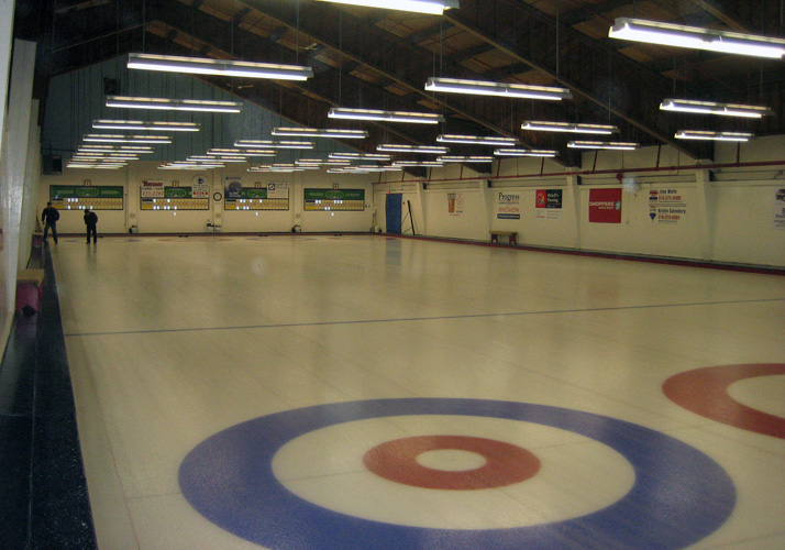 58' x 146' Permanent Curling Club Retro-fit using existing refrigeration.