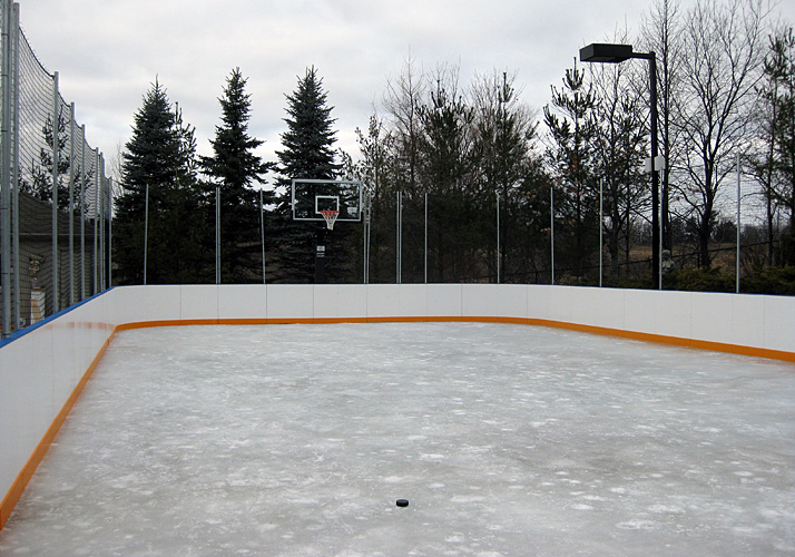 34' x 75' Permanent sport pad and ice rink with refrigeration and rink boards