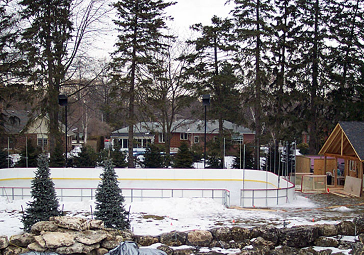 44' x 78' Permanent outdoor rink in concrete, RinkMate refrigeration system