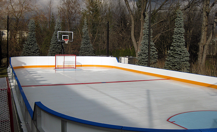 Custom ice rinks residential portable you can make the rink larger relocate it or even convert it to a permanent sports pad call or email us today for more information solutioingenieria Images