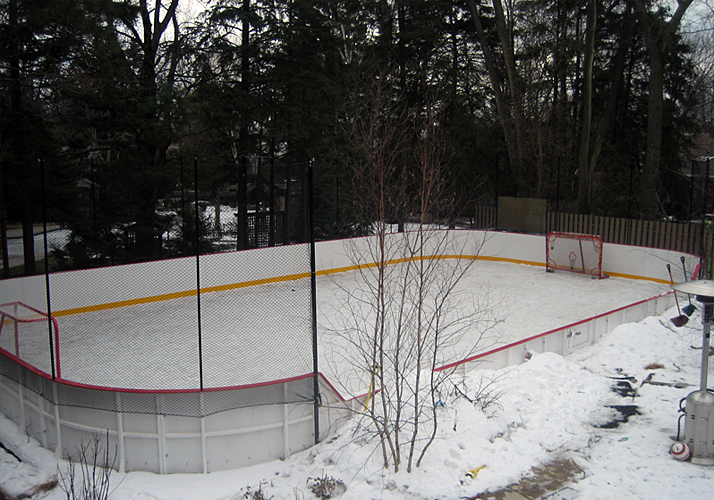 32' x 60' Portable rink, (1) RinkMate Kit chiller, transitional board, protective netting