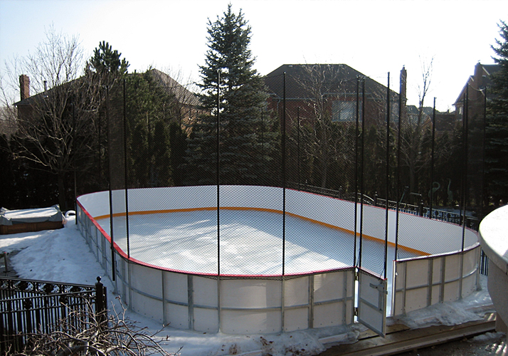 22' x 40' Portable rink over inground pool with (1) MiniMate chiller 24