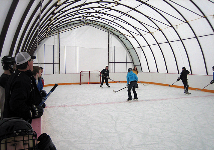 32' x 60' Portable rink in Temporary Building
