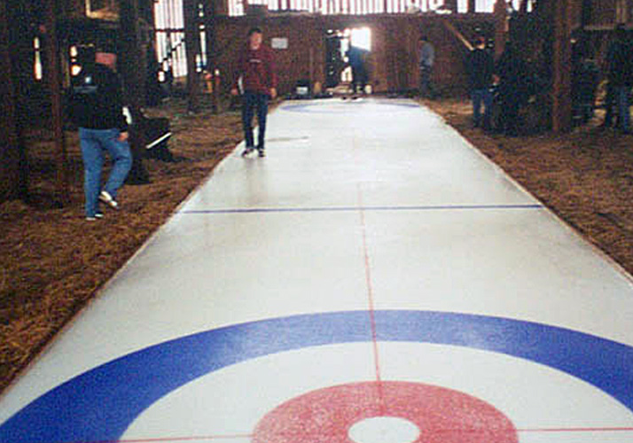 Portable Curling Rink for Movie Production
