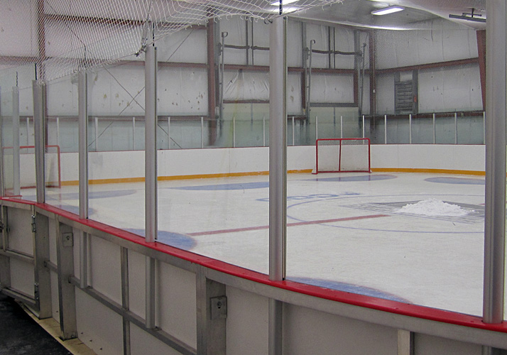 54' x 74' Private year round training rink with refrigeration, boards