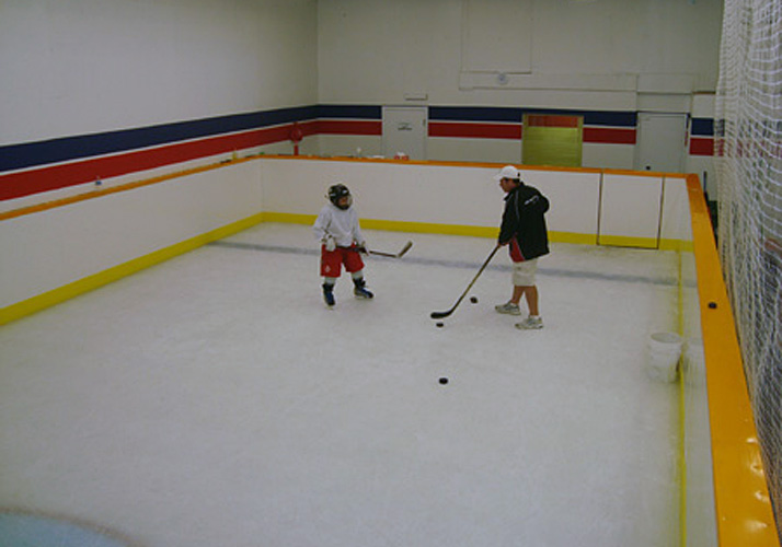 24' x 40' Indoor year round training rink for shooting and goalie training