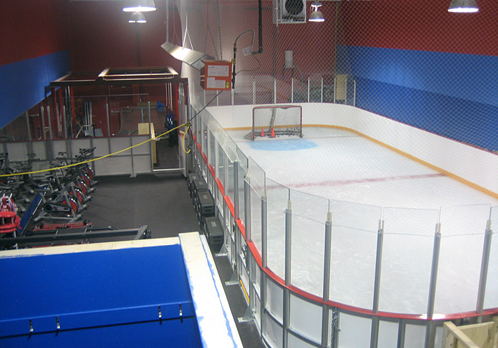 24' x 56' and 19' x 38' Portable Rinks, (1) industrial refrigeration unit, boards, glass, dehumidification